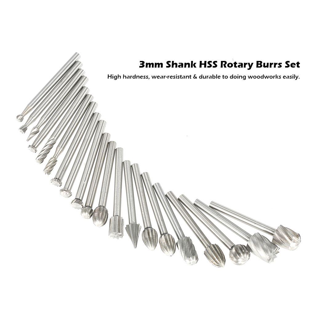 """Schaftfräser 3 mm Tungsten Carbide Rotary File Milling Cutter 1//8/"""" 3 mm Shank"""