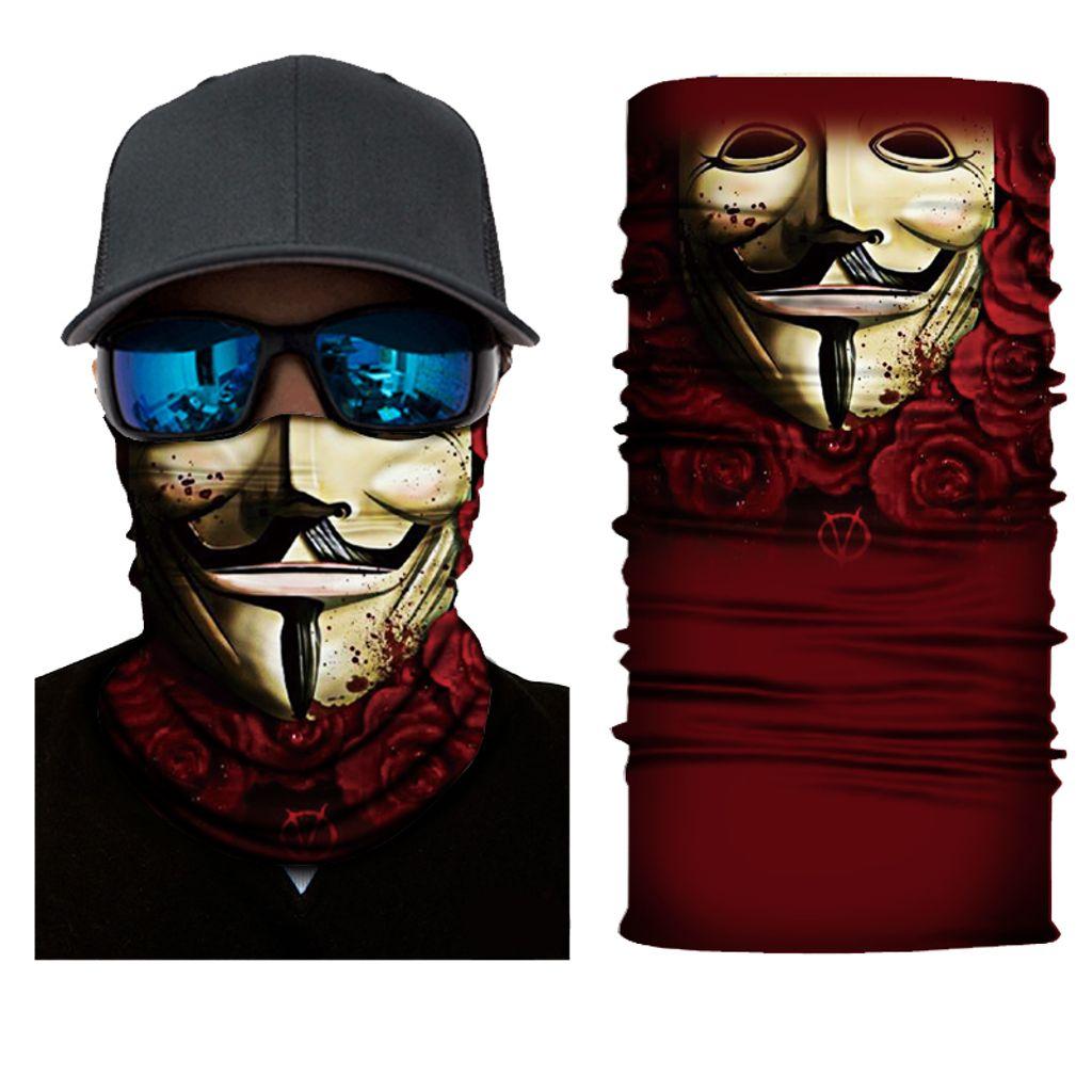 Multifunktionstuch Schlauchschal Halstuch Mundschutz Maske Motrorrad uni Biker