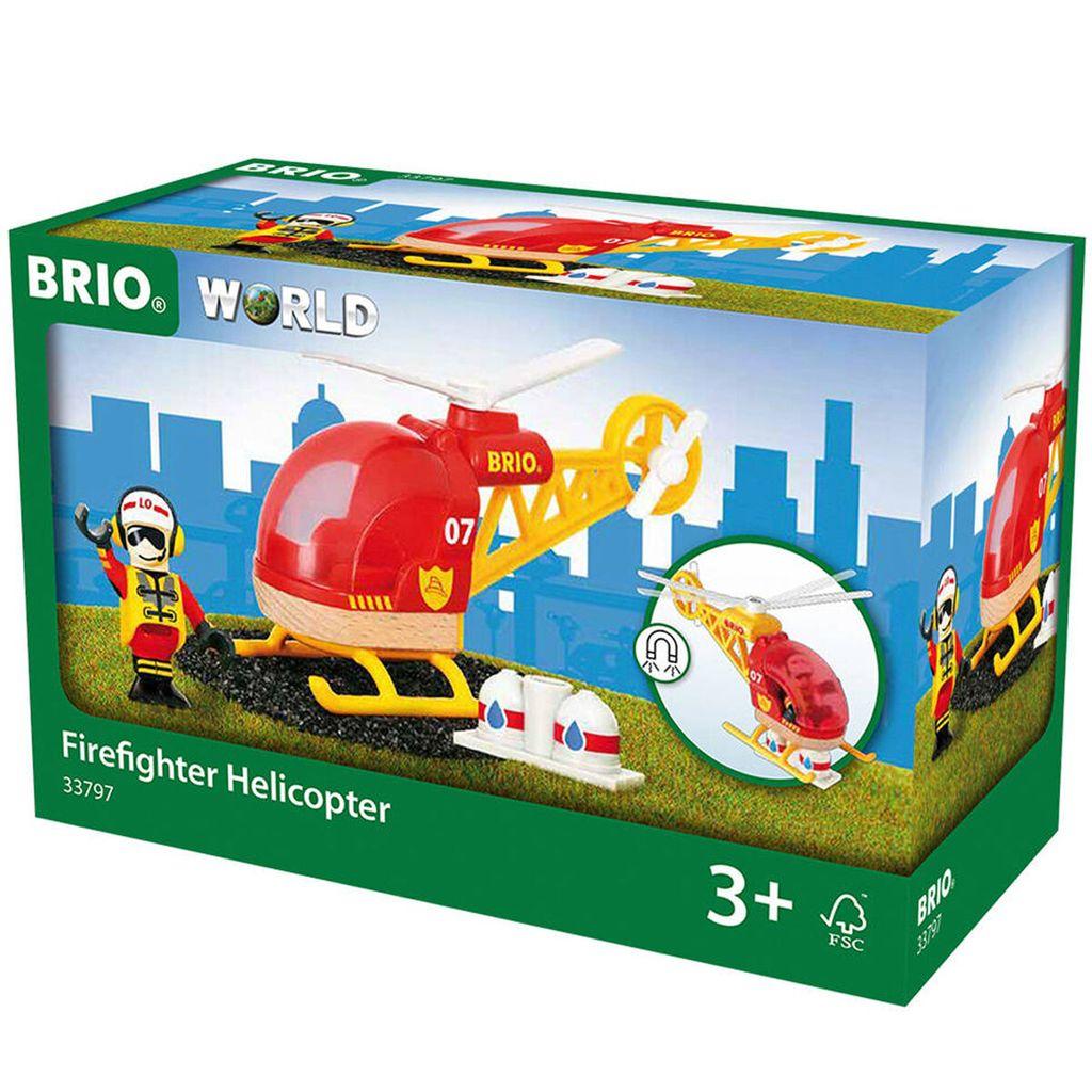 Holzeisenbahn Feuerwehr-Hubschrauber Brio 33797