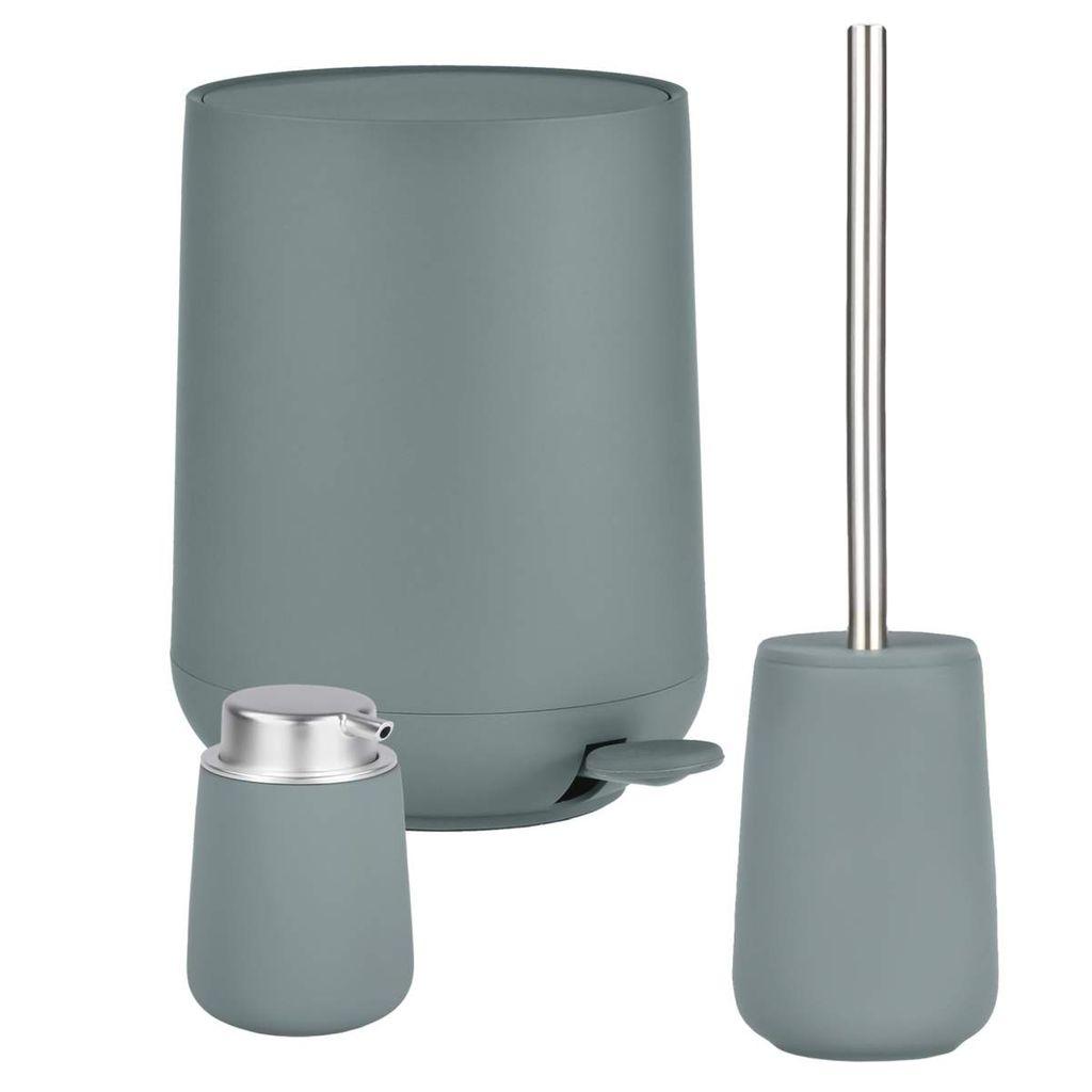 Zone Denmark Bad Accessoires 20er Badezimmer Set Pedaleimer Seifenspender  Toilettenbürste petrol