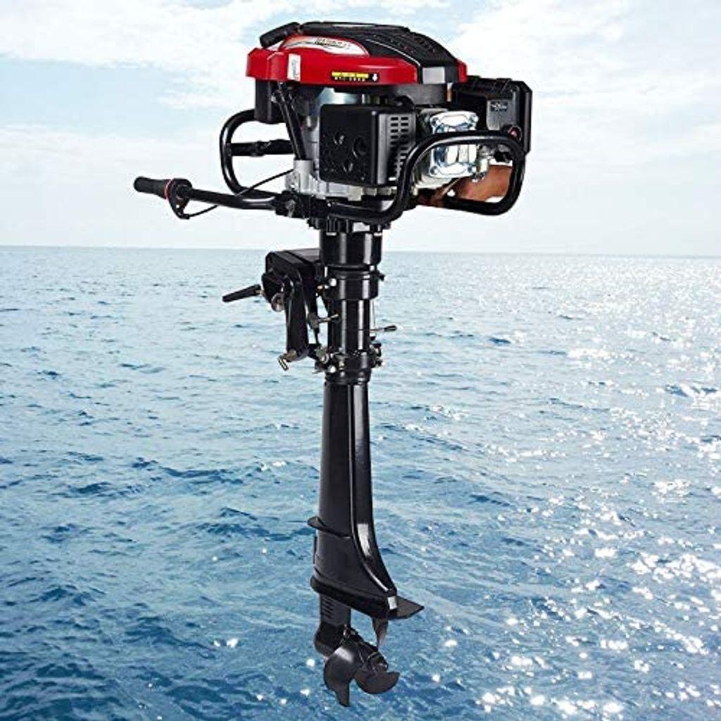 Bootsmotor Außenborder Motor 4 Takt Benzin Außenbordmotor 6,5 PS Schlauchboot