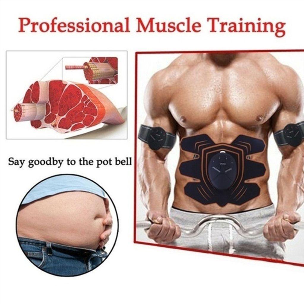 Elektro Bauchmuskel Trainer Stimulation Po Push Up Muskel EMS Trainingsgerät Gym