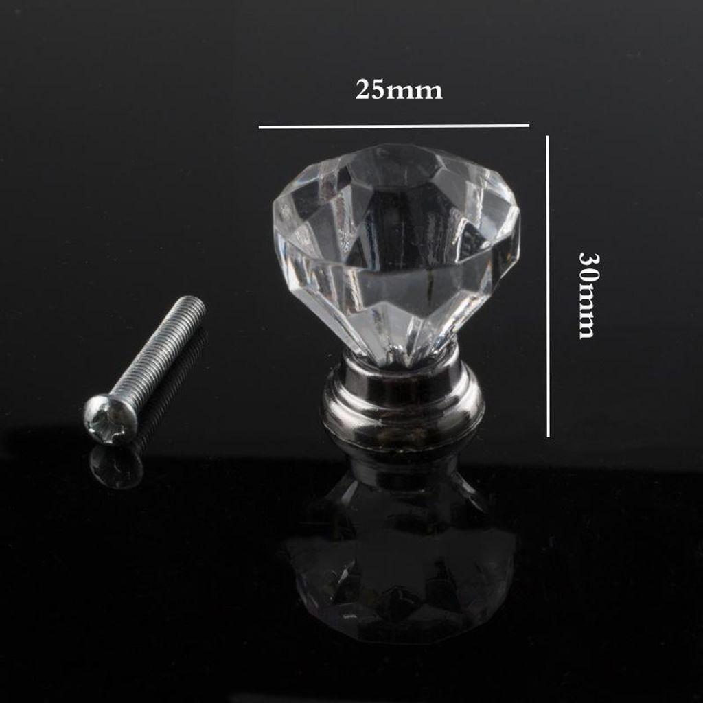 10 Stück Glas Möbelknopf Möbelgriffe Möbel Knauf Knopf Knöpfe