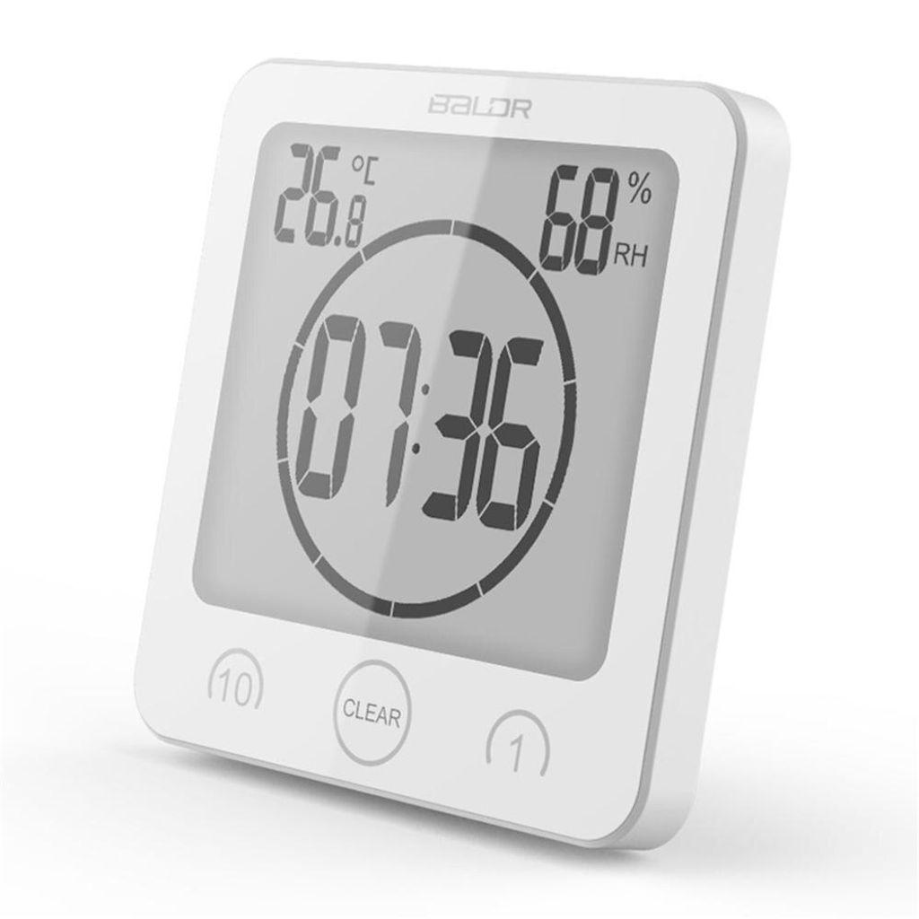 Badezimmeruhr Digital Wecker Uhr Badezimmer Dusche Saugnapf Shower Clock  mit LCD Display Luftfeuchtigkeit Temperatur Wanduhren,Countdown Timer Für  ...