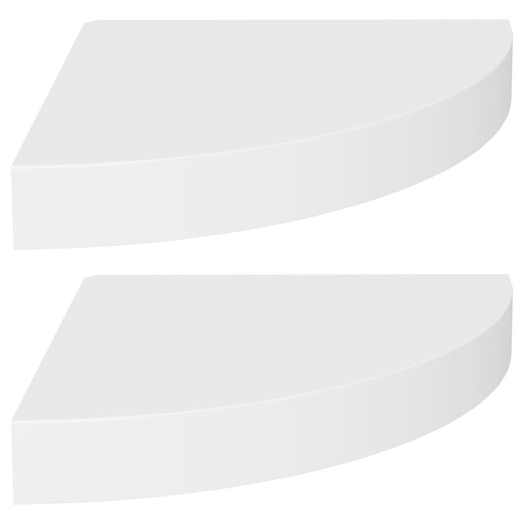vidaXL 2x Eckregal Grau 35x35x3,8cm MDF Schweberegal Wandregal Wandboard Regal