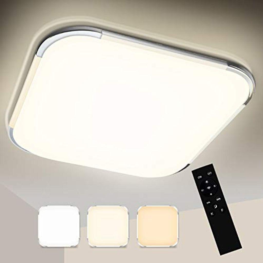 Wolketon 20W LED Deckenleuchte Dimmbar, Badezimmer Lampe 20K, 20LM  Flimmerfrei LED Deckenlampe, Badezimmerleuchte ersetzt 20W Gluehlampe, ...