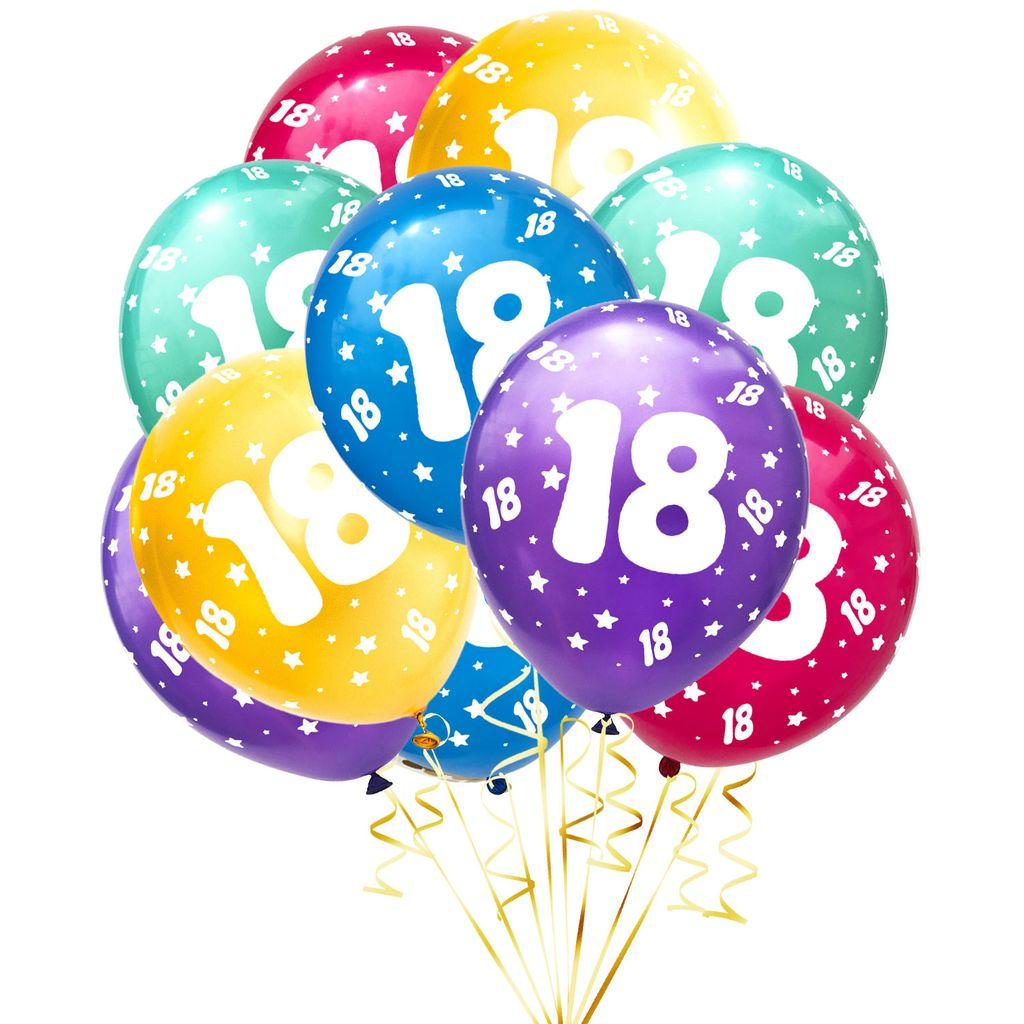 Oblique Unique Luftballon Set Zahl 8 für 8. Geburtstag Party 8 Deko  Ballons Geburtstagsdeko bunt