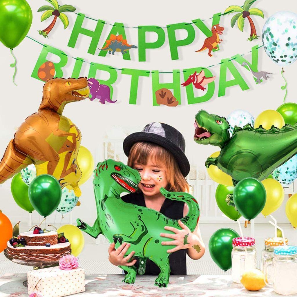 8pcs Geburtstagsdeko Jungen, Dino Geburtstag Deko, Dinosaurier Kinder