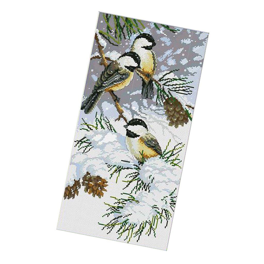 DIY Handarbeit Kreuzstich Stickerei Stickpackung Set vorgezeichnet Vögel aus