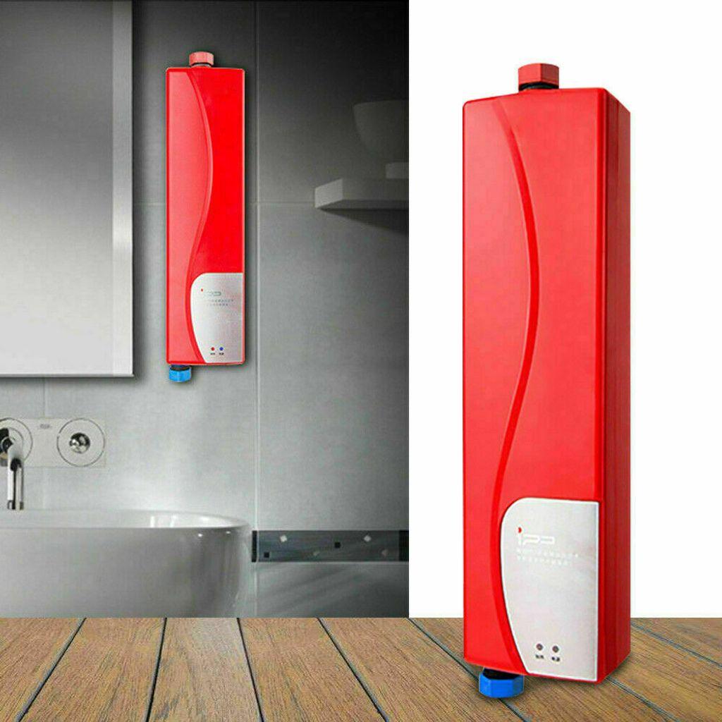 Mini Elektrisch Duschen Durchlauferhitzer Sofortige Dusche  Warmwasserspeicher Badzubehör 20KW