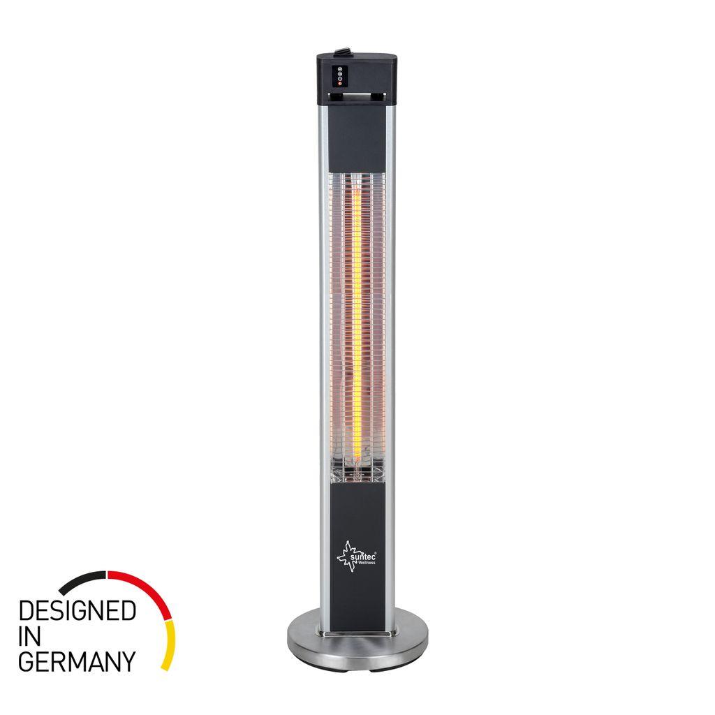 SUNTEC Infrarot Heizstrahler mit Fernbedienung   Heat Patio 20 Carbon  Wärmestrahler für Terrasse   Outdoor Terrassenheizer für Balkon, Garten  max. ...
