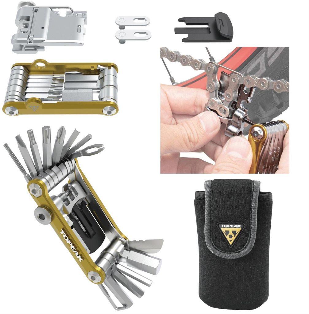Topeak Mini 20 Pro Fahrrad MTB Multifunktions Werkzeug Torx Kettennieter  gold
