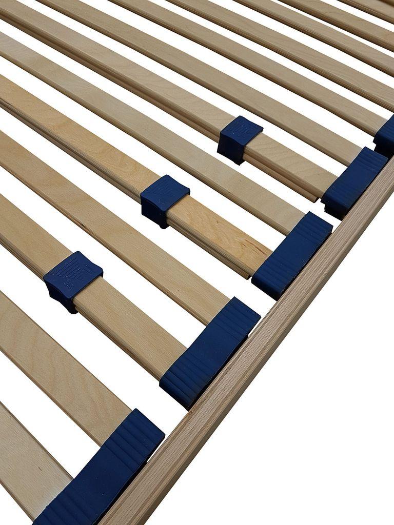 Stahl//Holz Modern Einzelbett rot Nicoflex rort080190h30/a Lattenrost orthop/ädisch