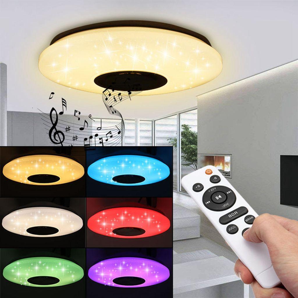20W RGB LED Deckenleuchte Bluetooth Musik Licht Lautsprecher Deckenlampe  Remote APP Steuerung DE Lager