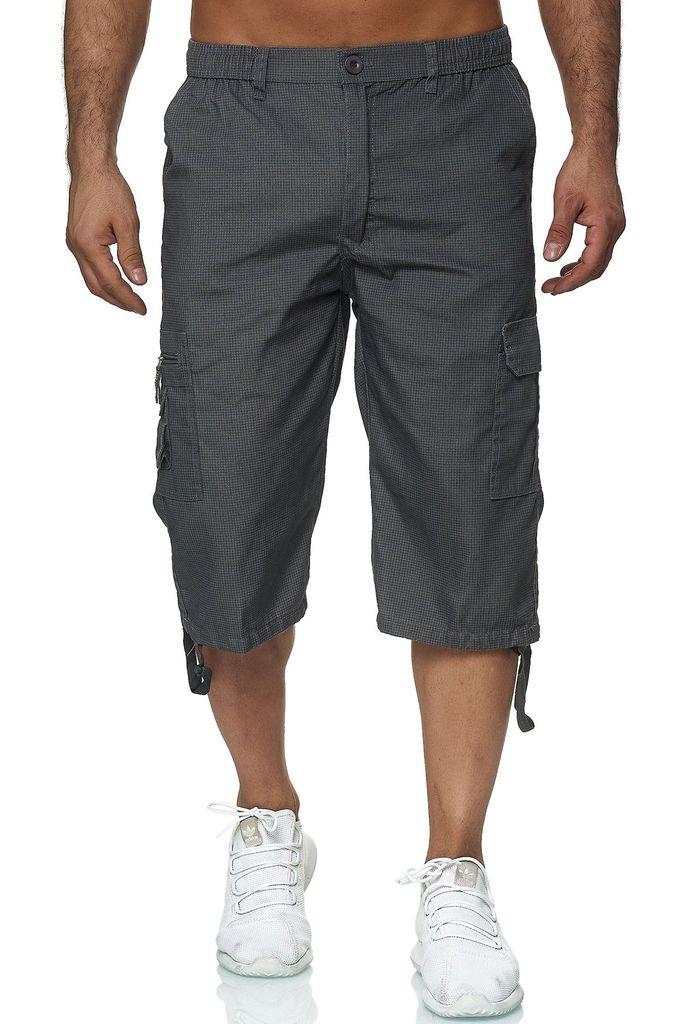 Herren Cargo-Shorts Bermuda Cargohose Kurze Chino Hose Beige//Schwarz//Grau//Khaki