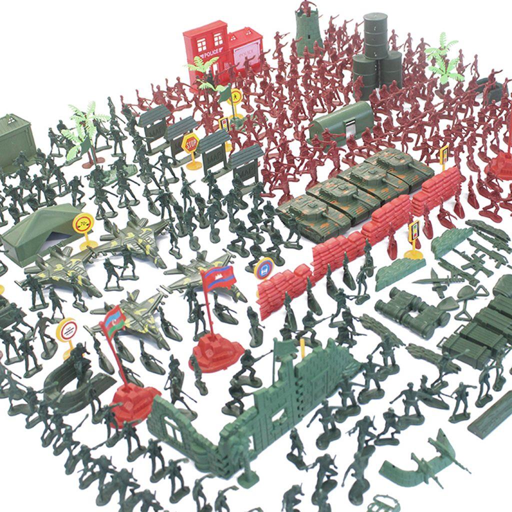 330 Stück Army Action Figuren und Zubehör 4cm Soldaten in 2 Farben