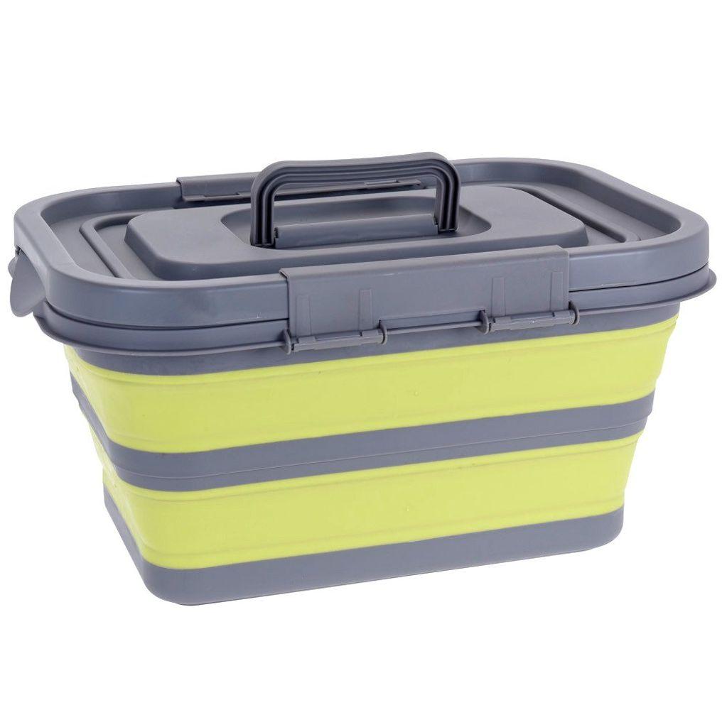 Koopman International Faltbare Box mit Deckel Silikon-Faltdose