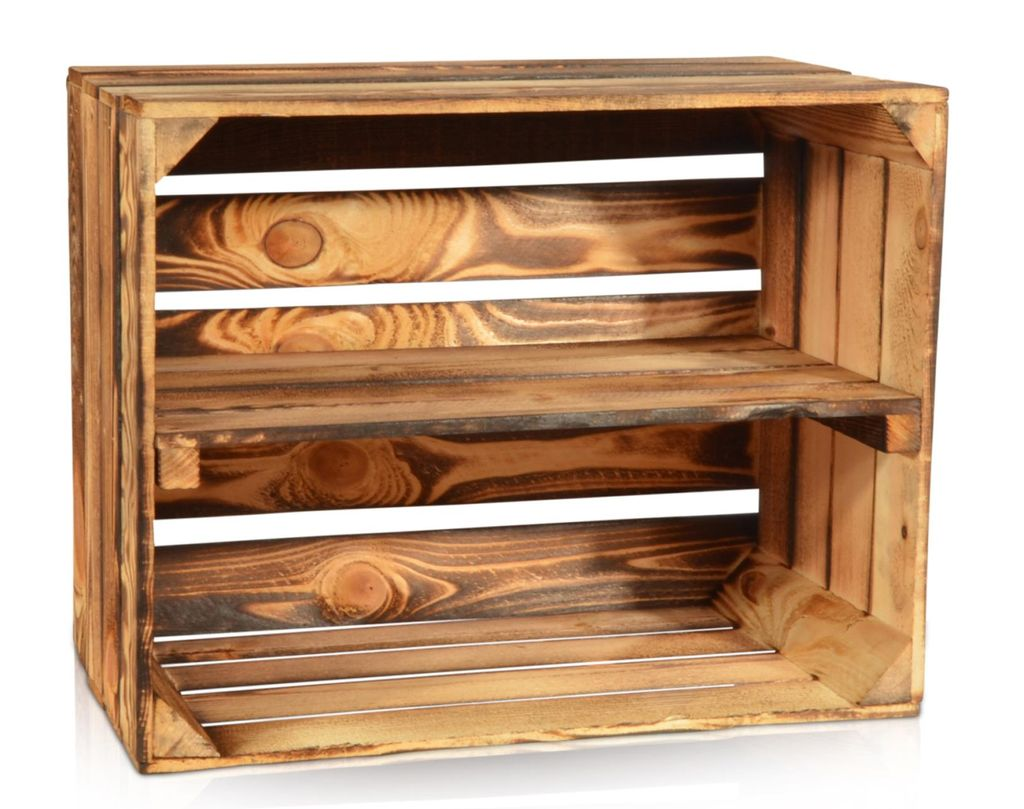 Holzkiste Geflammt 50x40x30cm Langes Regal Weinkisten Holzkisten Kisten Regale