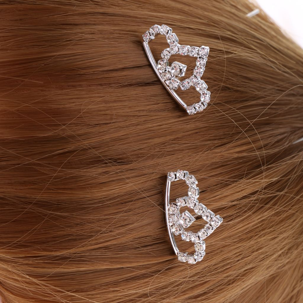 20 x Haarschmuck Haarnadeln mit Kristall 8mm Brautschmuck Hochzeit
