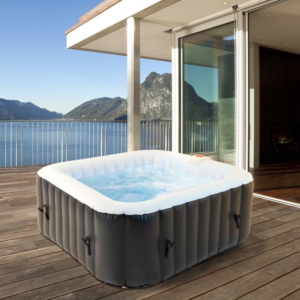 ECD Germany Aufblasbarer Whirlpool In Outdoor für 20 Personen, 20  Massagedüsen, LED Display, 20x20 cm, 20L, Extra Zubehör, Seifenblase  Jacuzzi Spa ...