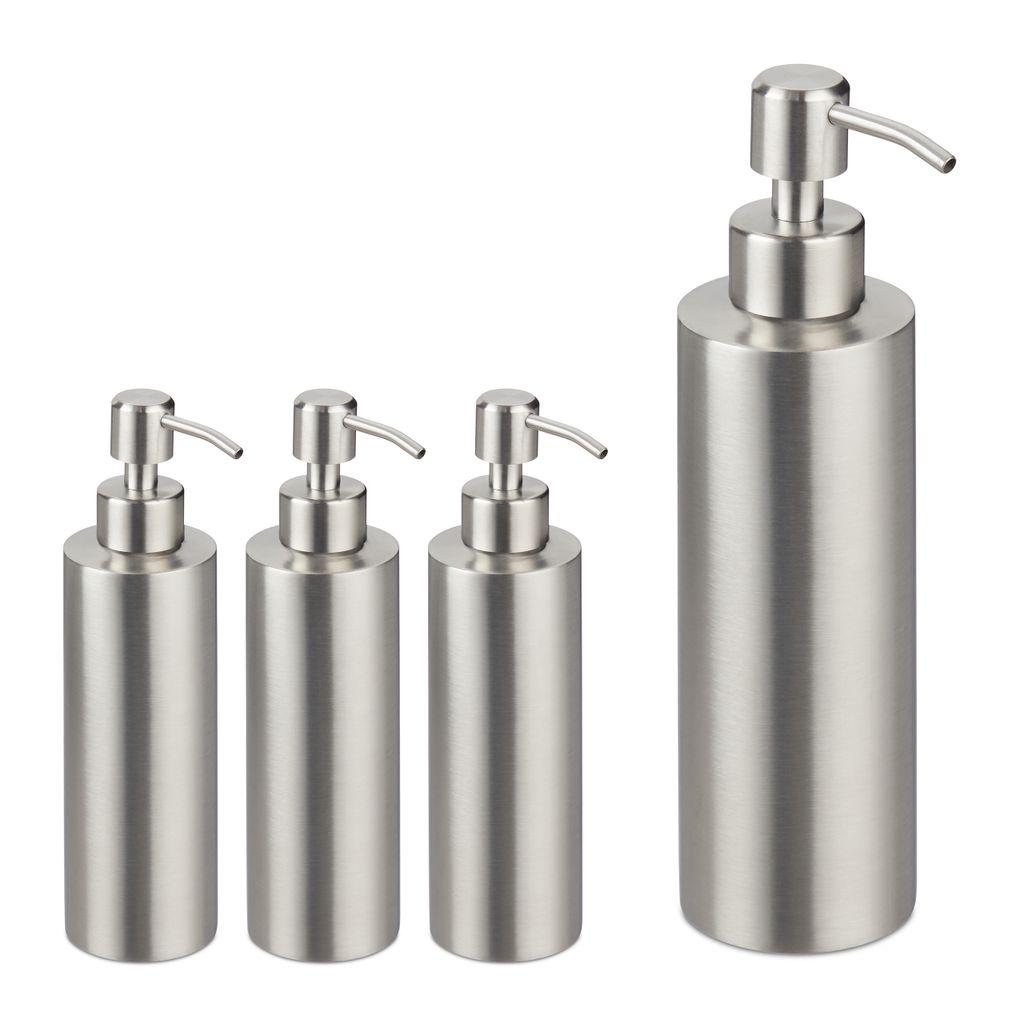 Seifenspender mit Schwammablage Küche Flüssigseifenspender Pumpspender