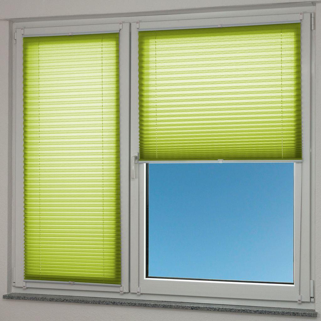 Plissee 20x20cm grün crash verspannt Klemmfix ohne Bohren Faltrollo  Fenster Tür