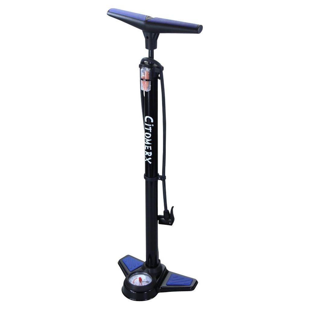 Fahrrad Hochdruck Luftpumpe Standpumpe mit Manometer für Ventile DE