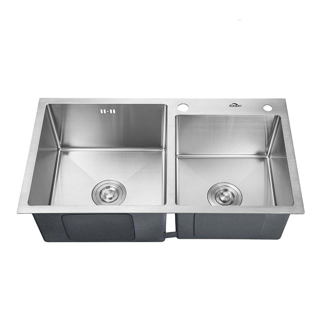 Küchenspüle Edelstahl Einbauspüle Spüle Waschbecken mit Abtropffläche Spülbecken
