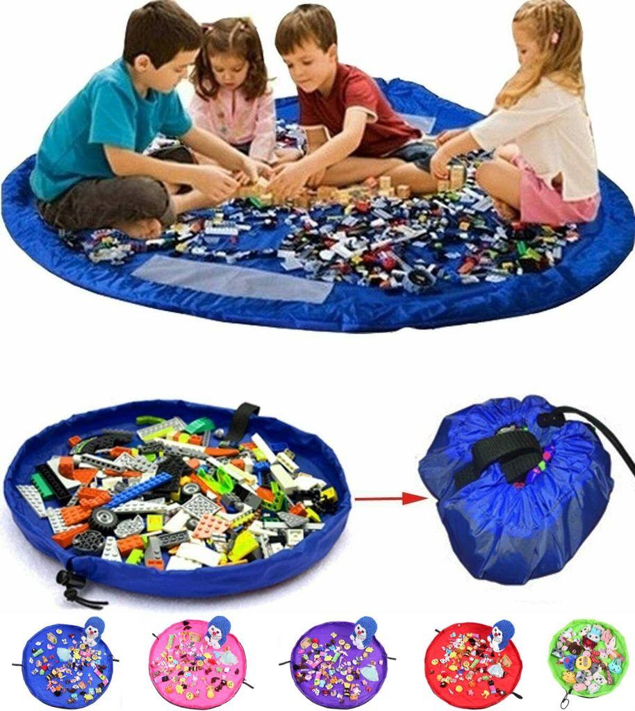 Kinder Spielzeug Speicher Tasche Aufräumsack Aufbewahrung Beutel Durchmesser 135cm Tyhbelle Baby Aufräumsack Spieldecke Autobahn Aufbewahrungstasche