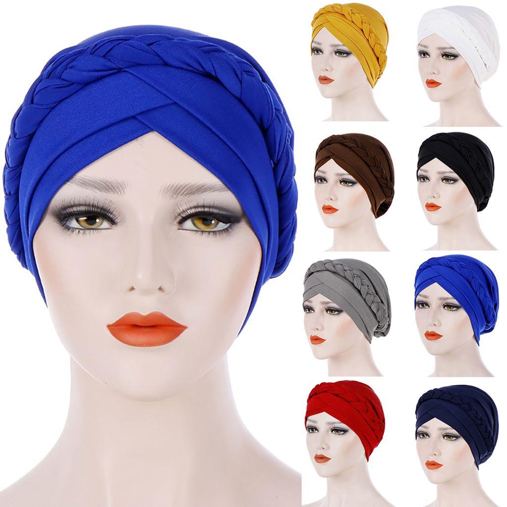 Frauen Kopf Wickeln Große Blumenkrebs Chemo Mütze Beanie Schal Turban Cap