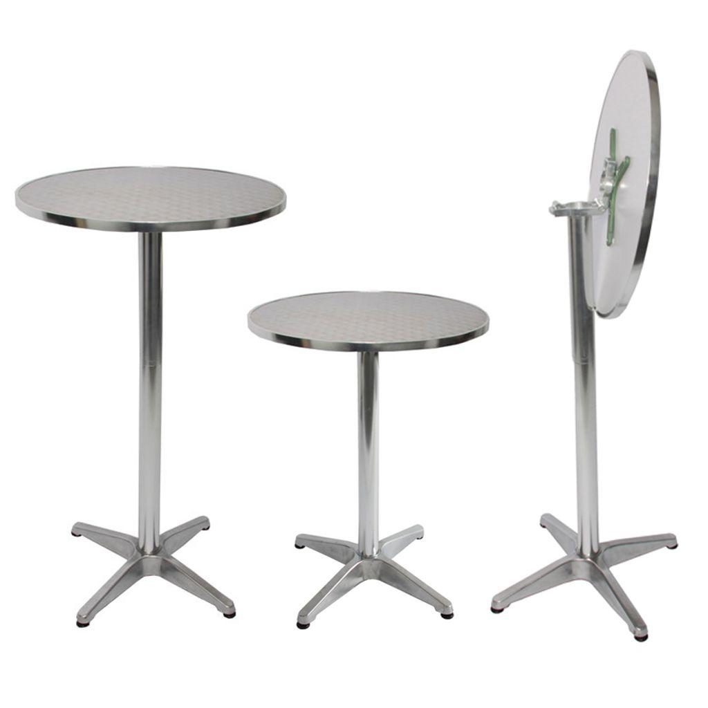 Stehtisch 75//114 cm Tischplatte klappbar Rund /Ø 60 cm Bistrotisch h/öhenverstellbar ca