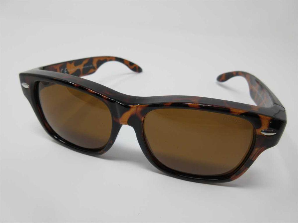 REVEX polarisierende Überbrille Sonnenbrille für Brillenträger CAT3 M3,braun