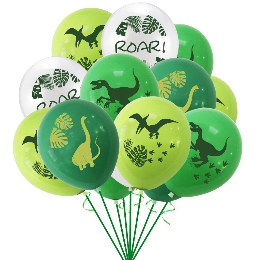 8 Stück Dinosaurier Brief Ballons Kinder Geburtstag Birthday Party  Dekoration Luftballons Eingestellt Partybedarf Partydekoration Haushaltsware