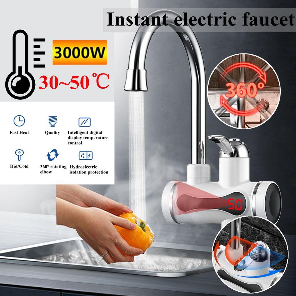 3000W Elektrisch Heißes kaltes Wasserhahn Digital LED Display Schnelle Heizung