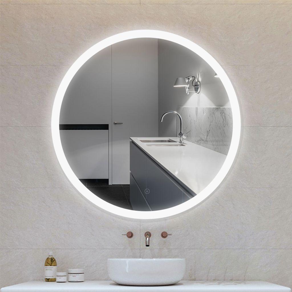 WYCTIN LED RUND Wandspiegel Badspiegel mit Beleuchtung Badezimmerspiegel  202020.20cm