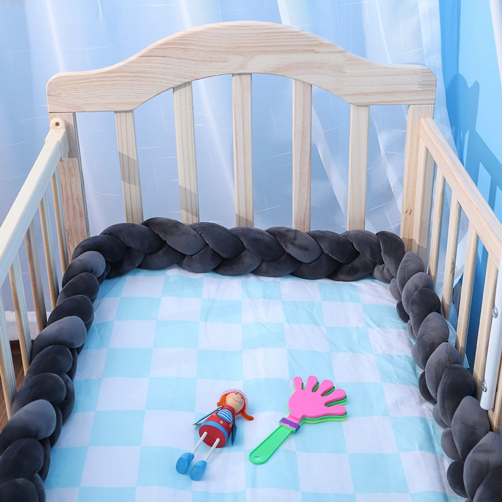 Details about  /Babybett Stoßstange verknotet geflochtene Stoßstange handgefertigt weiche Q7D5