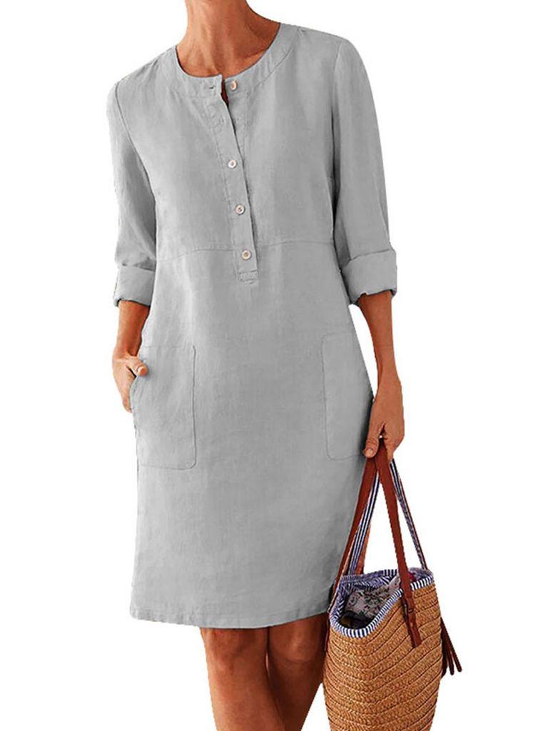 Plus Size Damen Langarm Midi Kleid Damen   Kaufland.de