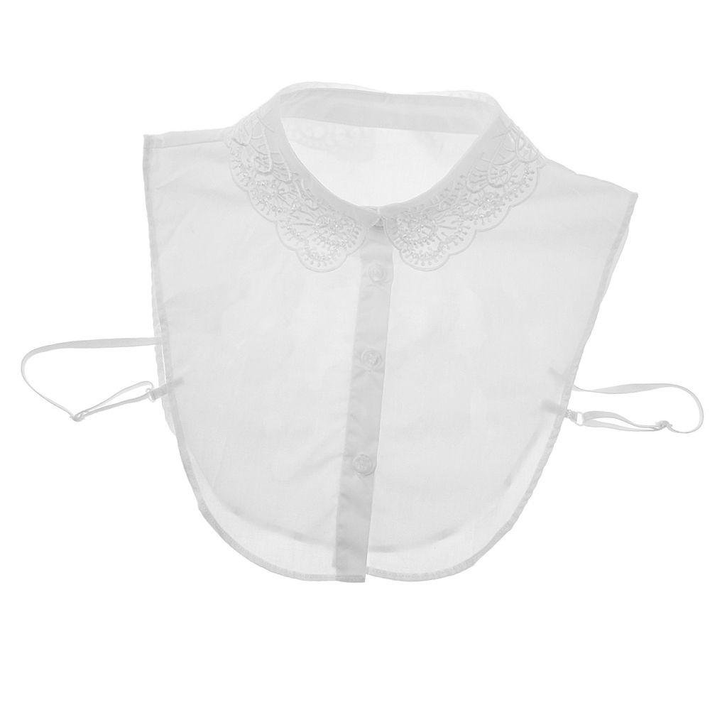 Abnehmbare Falsche Kragen Hälfte Hemd Blusenkragen Krageneinsatz Bluseneinsatz