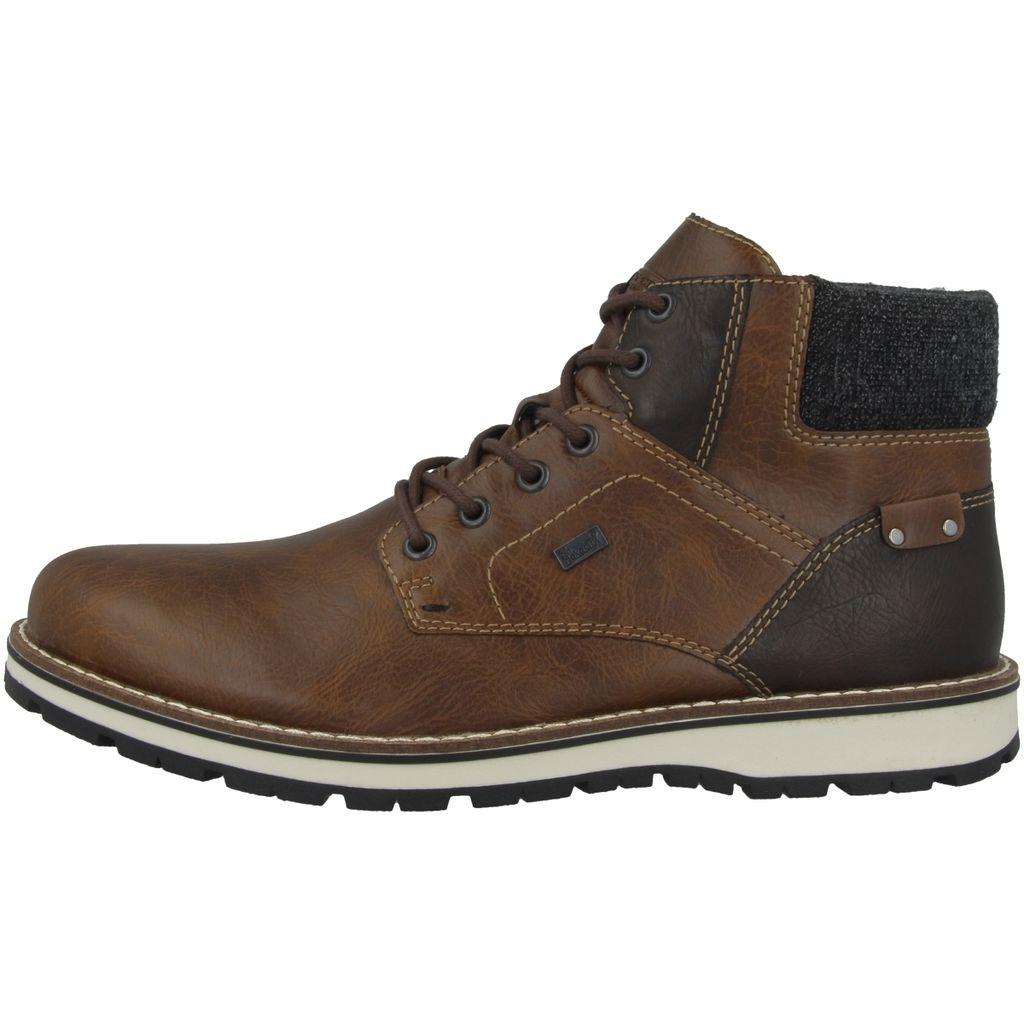 Rieker Herren Schuhe Winter Boots Stiefel RV Schurwolle gefüttert warm schwarz