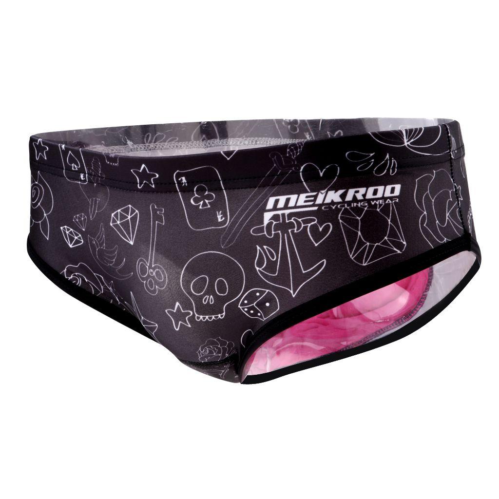 Damen Rad Unterhose Hipster Fahrradunterhose Radsport Unterwäsche mit 3D Gel