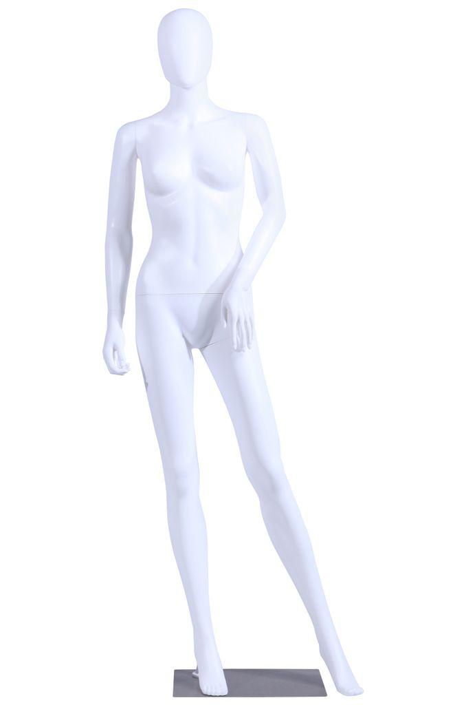 Schaufensterpuppe  female  Abstrakte weiblich mannequin weiße gänzende Hautfarbe