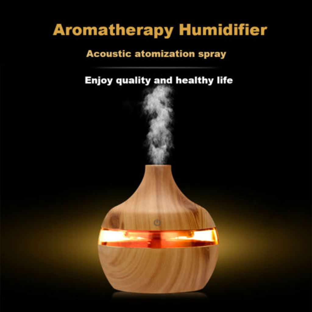 Aroma Essential Oil Diffusor LED Ultraschall Aromatherapie Luftbefeuchter
