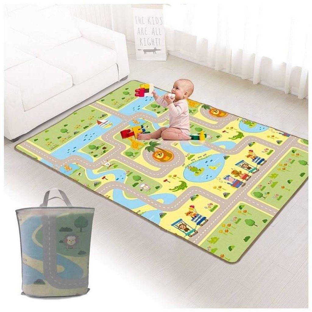 Doppelseitiges Baby Spiel Kinder spielen Matte Kleinkinder Faltbares JDDE