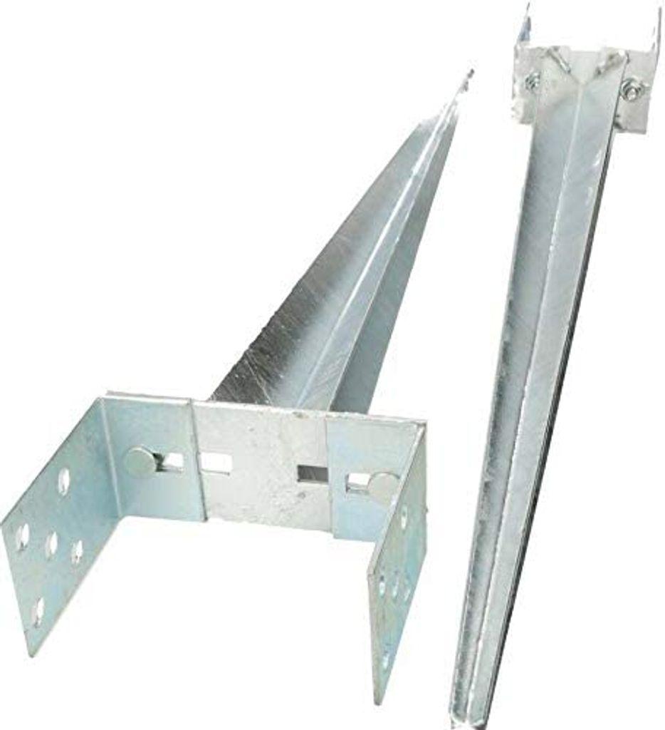 Einschlag-Bodenhülse für Zaunpfosten Stahl verzinkt 750 mm für Pfosten-R 38 mm