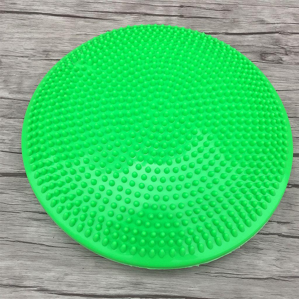 33CM Yoga Balance Disc Aufblasbare Stabilitäts Wackelkissen Freihandpumpe J9C7
