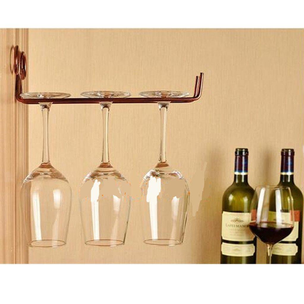 Wandregal Bar Wein Champagner Glas Tassen Kleiderbügel Rack Halter mit Schrauben