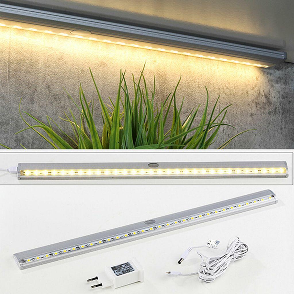 LED Leiste Unterbauleuchte 20 LEDs warmweiß Lichtleiste Stripe Licht Küche  Küchenlicht