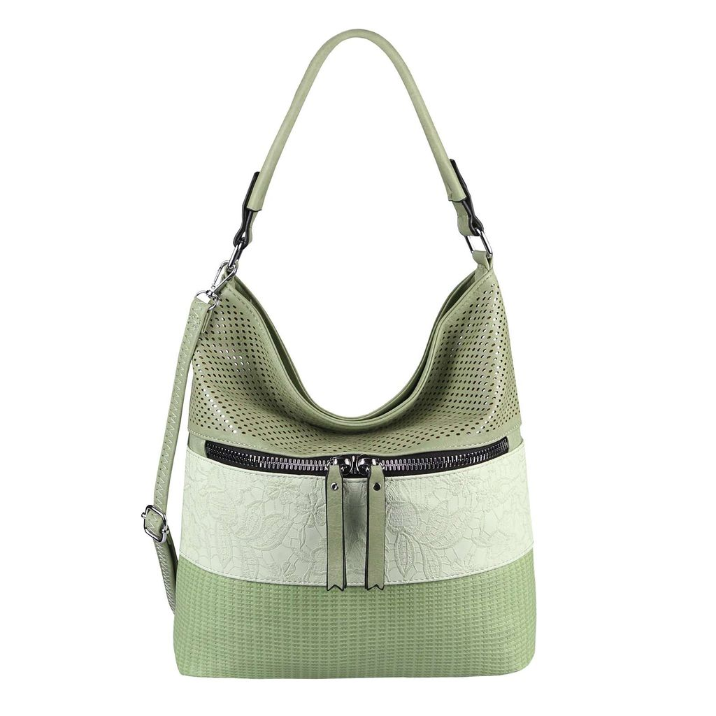 DAMEN TASCHE Schultertasche Umhängetasche Crossover Shopper Leder Optik Hobo Bag