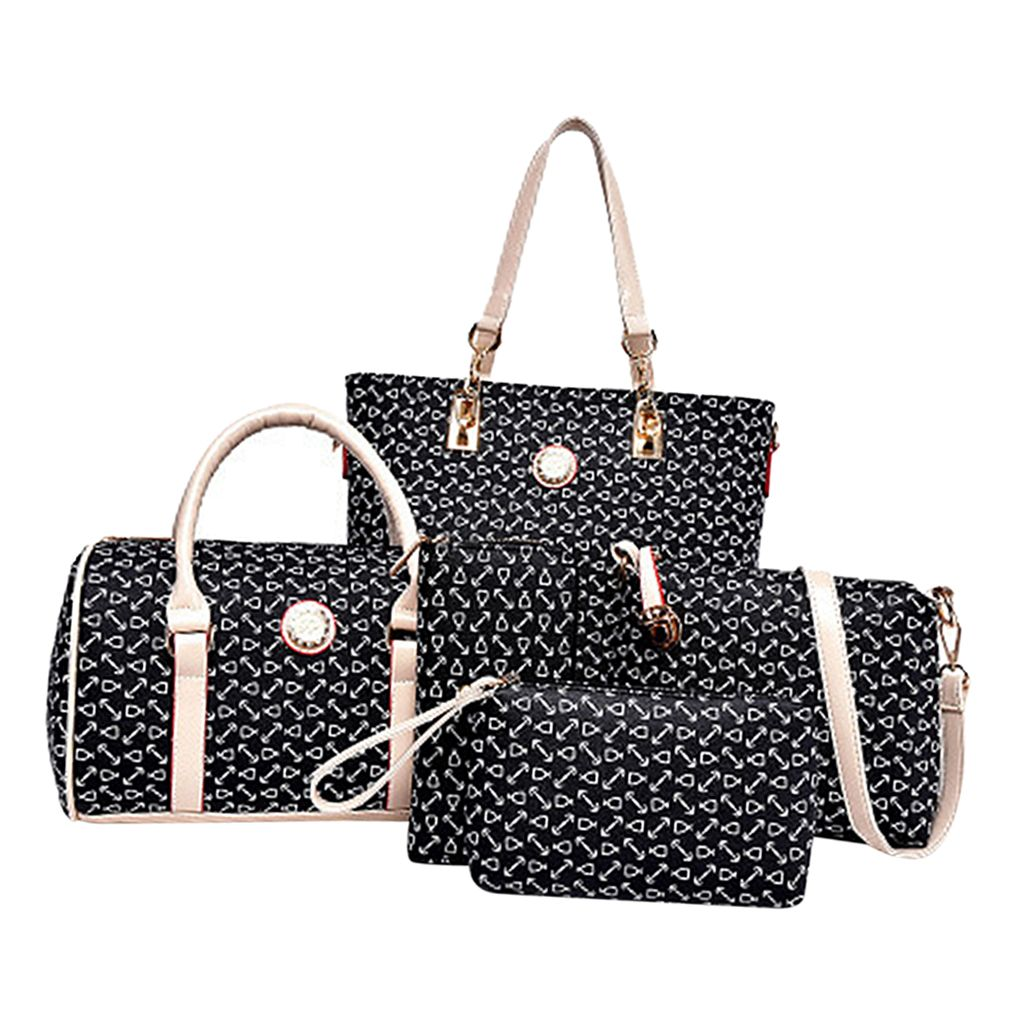 Leder Damen Tasche 6 Stück Set Mode Damen Schultertasche Umhängetasche