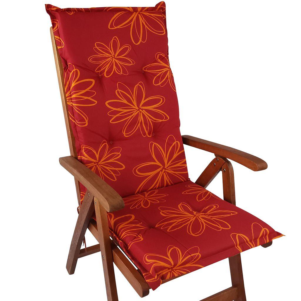 DILUMA Hochlehner Auflage Naxos f/ür Gartenst/ühle 118x49 cm Flamingo Made in EU mit /ÖkoTex100 6 cm Starke Stuhlauflage mit Komfortschaumkern und Bezug aus 100/% Baumwolle